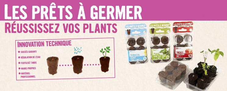 Réussissez vos plants avec les mottes pré semées