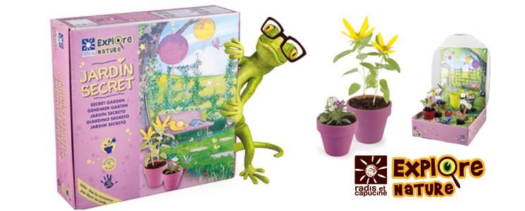 Coffret mon jardin secret avec pots et graines de fleurs à faire pousser en intérieur