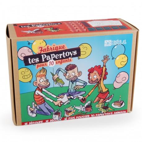 Anniversaire Paper toys Animaux au jardin