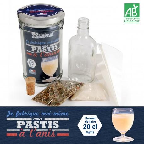 Kit diy en bocal pour faire son kit pastis bio soi m me for Alcool maison fabrication