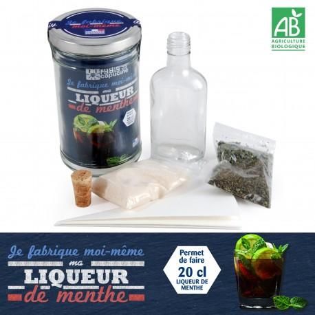 Kit pour faire sa liqueur de menthe maison for Alcool maison fabrication