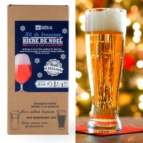 Coffret Brassage 5L bière de Noël extrait de malt en poudre