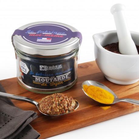 Moutarde de Dijon fabrication maison avec épices bio
