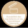 Durabilté des ingrédients et du cosmétique fabriqué