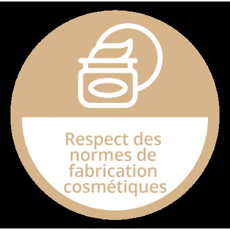 Respect des normes de fabrication cosmétiques