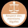 Respect des mentions légales
