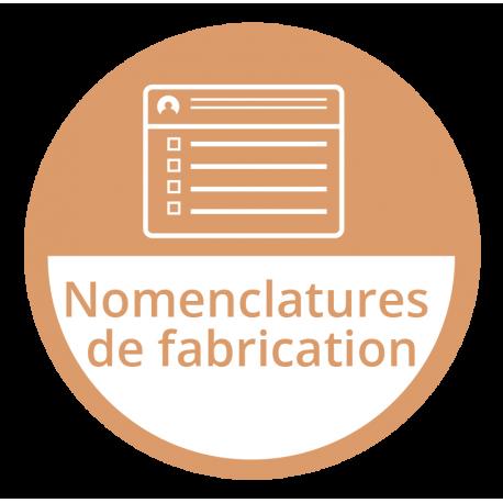 Nomenclatures de fabrication