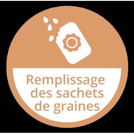Remplissage des sachets de graines