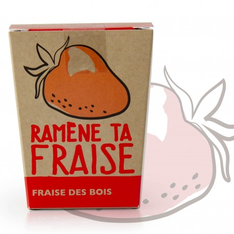 "Fun message Growing kit ""Ramène ta fraise"""