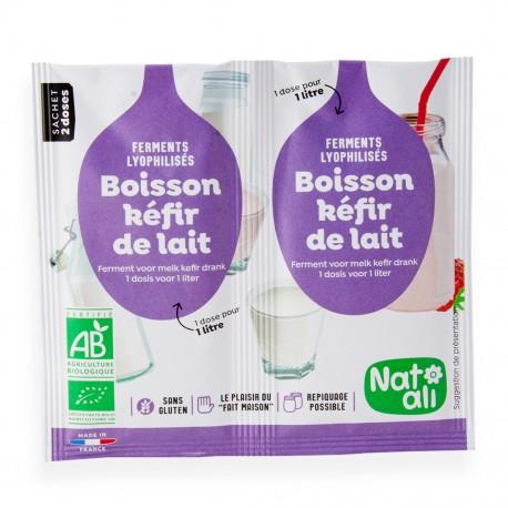 Ferments Kéfir de lait bio Natali