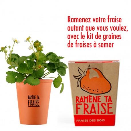 """Kit """"Ramène ta fraise"""" - graines de fraisiers"""
