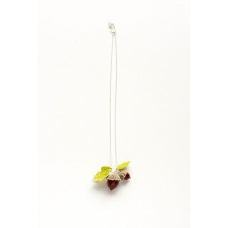 Collier pendentif lilas force Chêne