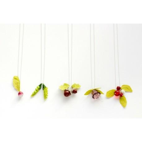 Collier pendentif modèle Petit Pois de Lilas Force