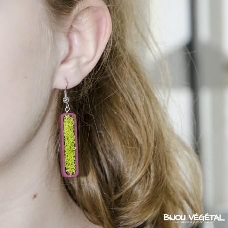 Boucles d'oreilles Jardinière prune