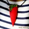 Collier Tulipe rouge avec plante vivante